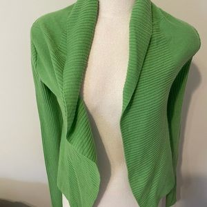 BCBG cashmere cardigan lime green size Small